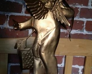 Golden cupid, tin, large.