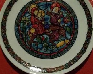 Limoges Christmas plate.
