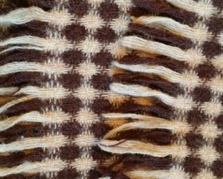 vintage Scottish wool scarf