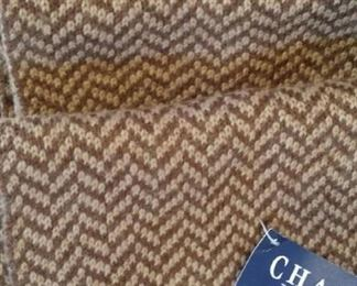 Chaps wool scarf, new