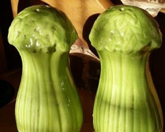 Celery salt and pepper shakers