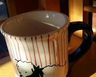 Eddie Bauer Christmas lamb mug