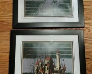 Disney framed knight and castle