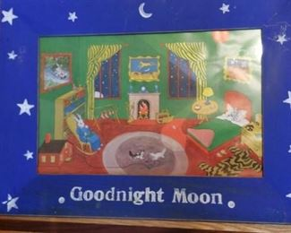 Goodnight Moon in painted frame