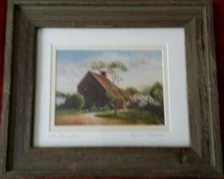 saltbox homestead lithograph