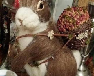 large hare made from natural materials