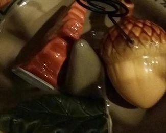 Autumn ceramic note holders