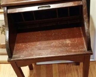 children's roll top desk, vintage