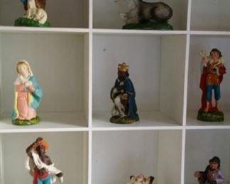 Italian paper mache nativity figures