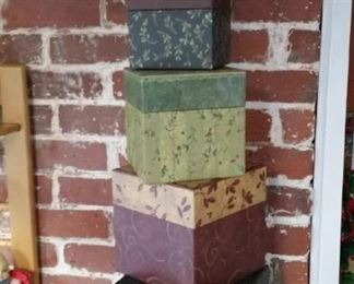Christmas stacking boxes