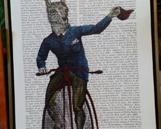 Llama on penny farthing bicycle by Fab Funky