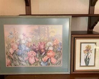 Two Iris Prints