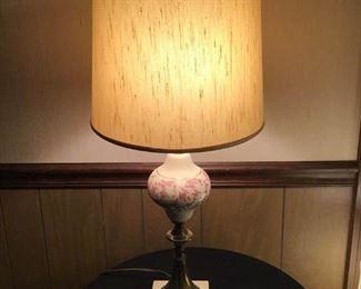 Vintage Marble/Brass Lamp