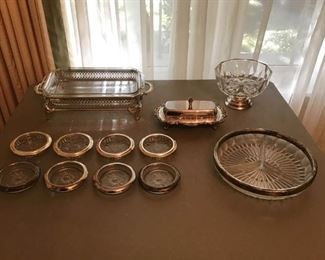 Silver pLate and Glass Items