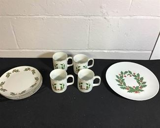 Christmas Holly Berry Fine China Pieces