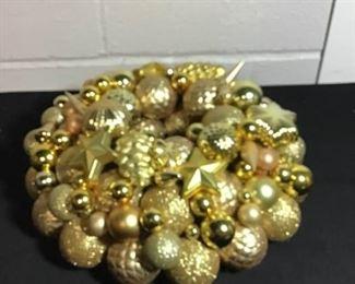 Gold Ornament Wreath Decor