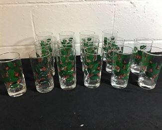 Holly Berry Drinking Glasses(15)