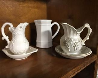 Small vintage pitchers and bowls