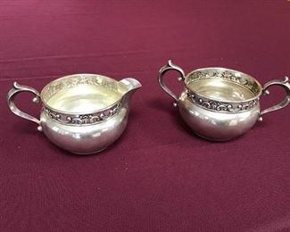 Sterling Silver Sugar and Creamer 1132/1133