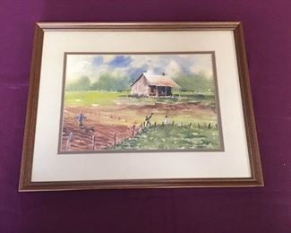 Mississippi Artist Harry Maddox Watercolor Painting