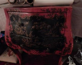 Asian themed Bombay chest.