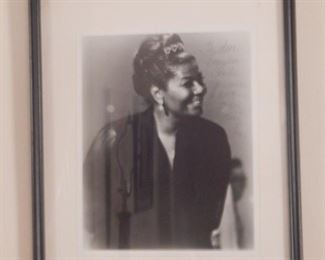 Pearl Bailey signed photo.