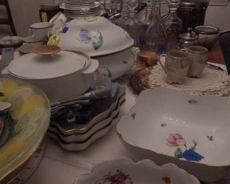 Herend serving pieces, bread plates, dessert plates too!