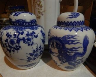 Japanese ginger jars...small