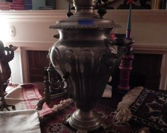 Large antique samovar