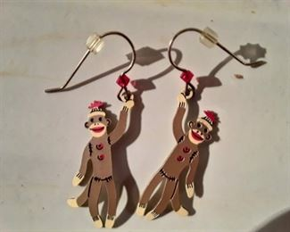Sock Monkey Earrings