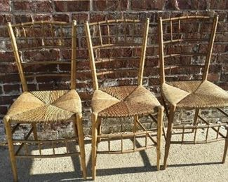 tbs antique gold and straw chairs