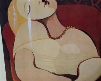 Framed Picasso poster