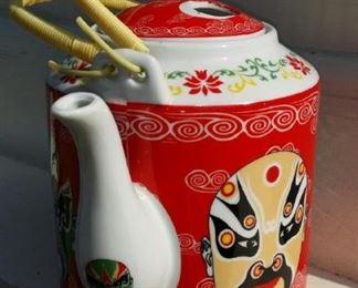 tbs Asian mask teapot