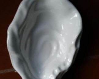 oyster dish, ceramic