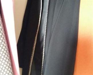 Long black evening coat