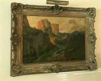 "#11- French 19th century oil painting. 25"" x 36"" . Purchased from the Lowe Art Museum."