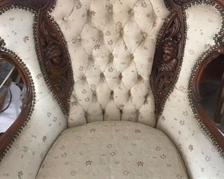 down filled french chair