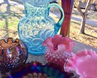 carnival glass fenton glass