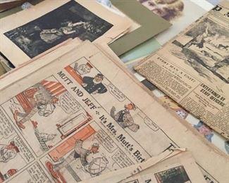 old newspapers and ephemera