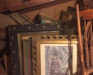 old art in antique frames
