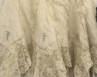 antique victorian lace shawl