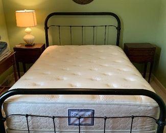 #1 Vintage heavy iron bed full size $150                                  #2 Sealy mattress set full size $75.00