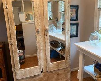 """#5 Distressed cedar lined cabinet 36""""x21""""x71"""" $85.00"""