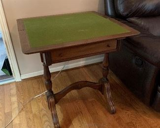 """#9Flip top game table 15""""x30"""" (square when open) x 29"""" $65.00"""