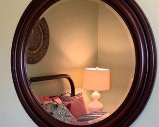 """#17Round beveled mirror 33"""" $20.00"""
