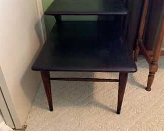 """#21Lane mid centry step side table 27""""x20""""x21"""" $40.00"""
