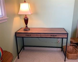 """#23Laminate desk with two drawers 49""""x19""""x29.5"""" $30.00"""