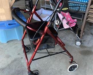 #35Drive rolling walker with two hand breaks $20.00