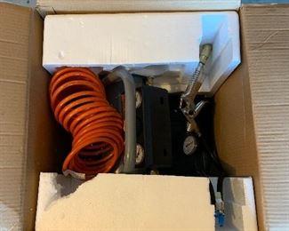 #38HDX 2 gallon air compressor 100 psi new in box  $40.00