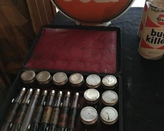 Gulf oil salesman's sample kit